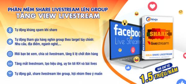 Phần mềm share Livestream bán hàng trên Facebook